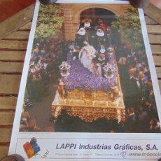 Carteles de Semana Santa: CARTEL DE LA SEMANA SANTA DE SEVILLA MIDE 70 X 50 CRISTO DE LA CARIDAD SANTA MARTA. Lote 52625213