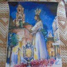 POSTER CARTEL DE LA SEMANA SANTA DE MÁLAGA. VIA CRUCIS 1996. 69 X 41 CM APROX. 119
