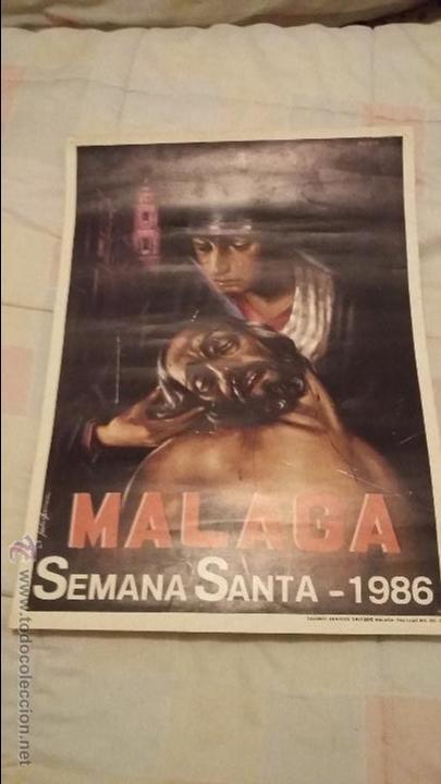 SEMANA SANTA MÁLAGA CARTEL AÑO 1986 (Coleccionismo - Carteles Gran Formato - Carteles Semana Santa)