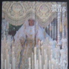 Carteles de Semana Santa: SEMANA SANTA DE MÁLAGA: MARÍA SANTÍSIMA DEL ROCÍO CORONADA CALENDARIO Y AGENDA COFRADE 2016. Lote 53645644