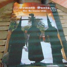 Carteles de Semana Santa: CARTEL SEMANA SANTA AÑO 1992 DE DOS HERMANAS MIDE 68.5 X 50 CM. Lote 53746333