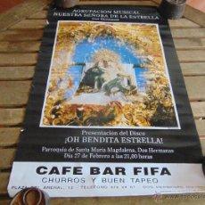 Carteles de Semana Santa: CARTEL AGRUPACION MUSICAL NUESTRA SEÑORA DE LA ESTRELLA DOS HERMANAS MIDE 64 X 42 CM. Lote 87742968