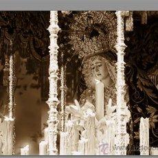 Carteles de Semana Santa: PRECIOSO AZULEJO 40X25 DE LA VIRGEN DE LA ESTRELLA DE SEVILLA. Lote 53888127