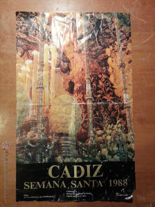 1988 CARTEL SEMANA SANTA CADIZ (Coleccionismo - Carteles Gran Formato - Carteles Semana Santa)