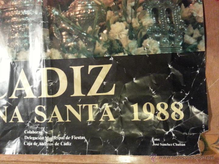 Carteles de Semana Santa: 1988 CARTEL SEMANA SANTA CADIZ - Foto 3 - 54452416