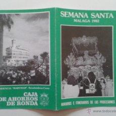 Carteles de Semana Santa: HORARIO E ITINERARIO DE SEMANA SANTA EN MALAGA AÑO 1982. Lote 54520494