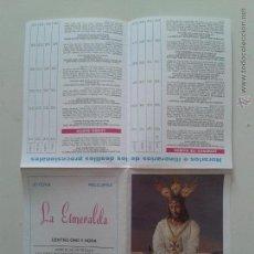 Carteles de Semana Santa: HORARIO E ITINERARIO DE SEMANA SANTA EN MALAGA AÑO 1999 . Lote 54543775