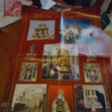 Carteles de Semana Santa: GRAN CARTEL IGLESIA DEL CARMEN CADIZ VIRGEN DEL CARMEN. Lote 54722242