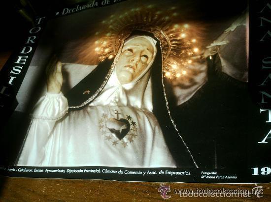 CARTEL SEMANA SANTA DE TORDESILLAS 1999 VIRGEN DE LA SOLEDAD (Coleccionismo - Carteles Gran Formato - Carteles Semana Santa)