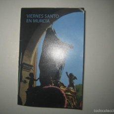Carteles de Semana Santa: PEQUEÑO LIBRO DE IMAGENES DE LOS PASOS DE SEMANA SANTA DE VIERNES SANTO EN MURCIA. PASOS DE SALZILLO. Lote 56030202
