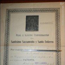 Carteles de Semana Santa: MADRID. REAL E ILUSTRE CONGREGACIÓN DEL SANTÍSIMO SACRAMENTO Y SANTO ENTIERRO AÑO 1921. Lote 56244559