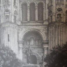 Carteles de Semana Santa: MALAGA VIÑEROS SALIENDO DE LA CATEDRAL ESTAMPA COFRADIERA 1985 SERIE SEGUNDA 1991 DIBUJO DE F. PRINI. Lote 57281423