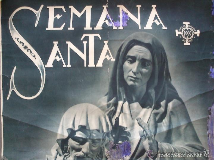 Carteles de Semana Santa: CARTEL. SEMANA SANTA. SANTANDER. AÑOS 50. EL DE LA FOTO. 55 X 40CM - Foto 2 - 57591956