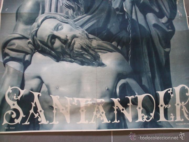 Carteles de Semana Santa: CARTEL. SEMANA SANTA. SANTANDER. AÑOS 50. EL DE LA FOTO. 55 X 40CM - Foto 7 - 57591956