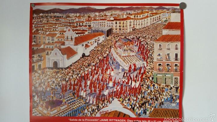 Carteles de Semana Santa: CARTEL SALIDA PROCESIONAL ZAMARILLA 2003 . FIRMADO POR EL PINTOR Y AUTOR MALAGUEÑO RITTWAGEN - Foto 2 - 58653693