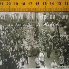 Carteles de Semana Santa: ANTIGUA PUBLICACION A DOBLE HOJA VIRGEN DEL PERPETUO SOCORRO MADRID ICONO . Lote 61461663