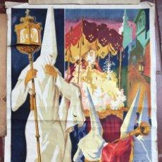 Carteles de Semana Santa: CARTEL SEMANA SANTA SEVILLA 1952 PROCESION RELIGIOSO LITOGRAFIA GRANADA ANDALUCIA COFRADIA (6. Lote 63687647