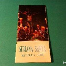 Carteles de Semana Santa: PROGRAMA SEMANA SANTA SEVILLA 1988. Lote 64636323