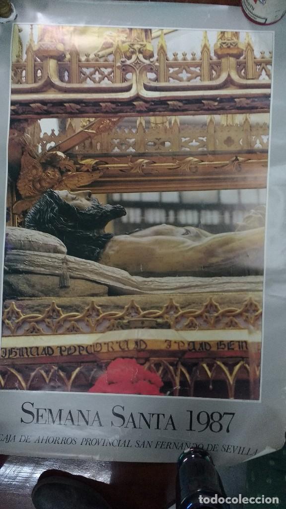 SEVILLA 1987 SEMANA SANTA (Coleccionismo - Carteles Gran Formato - Carteles Semana Santa)