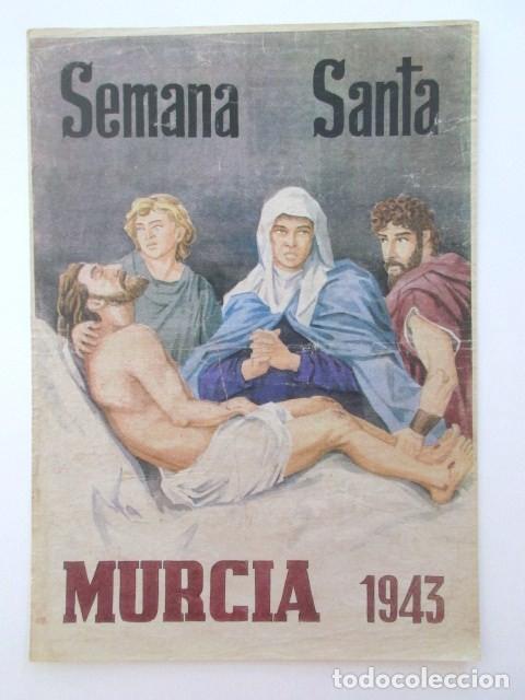 CARTEL DE LA SEMANA SANTA DE MURCIA DEL AÑO 1963 (Coleccionismo - Carteles Gran Formato - Carteles Semana Santa)