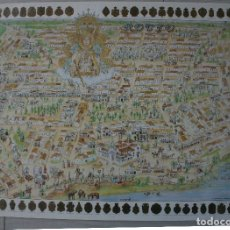 Carteles de Semana Santa: POSTER CARTEL TIPO NAIF VIRGEN - ROMERIA EL ROCIO ALMONTE ESCUDOS 86 HERMANDADES HERMANDAD - RARO. Lote 80479785