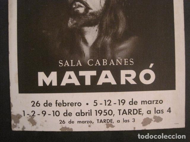 Carteles de Semana Santa: CARTEL MATARO-LA PASSIO -SALA CABAÑES - AÑO 1950- CARTON -MIDE 28 X 38 CM-VER FOTOS-(V-10.584) - Foto 4 - 83299196