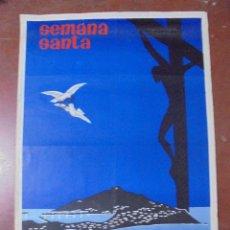 Carteles de Semana Santa: CARTEL. SEMANA SANTA, 1964. CEUTA. DIBUJANTE ESTUDILLO. 99 X 69 CM. Lote 83778976
