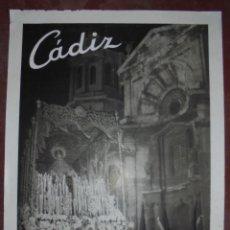 Carteles de Semana Santa: CARTEL. SEMANA SANTA 1964. CADIZ. 65 X48 CM. Lote 85007524