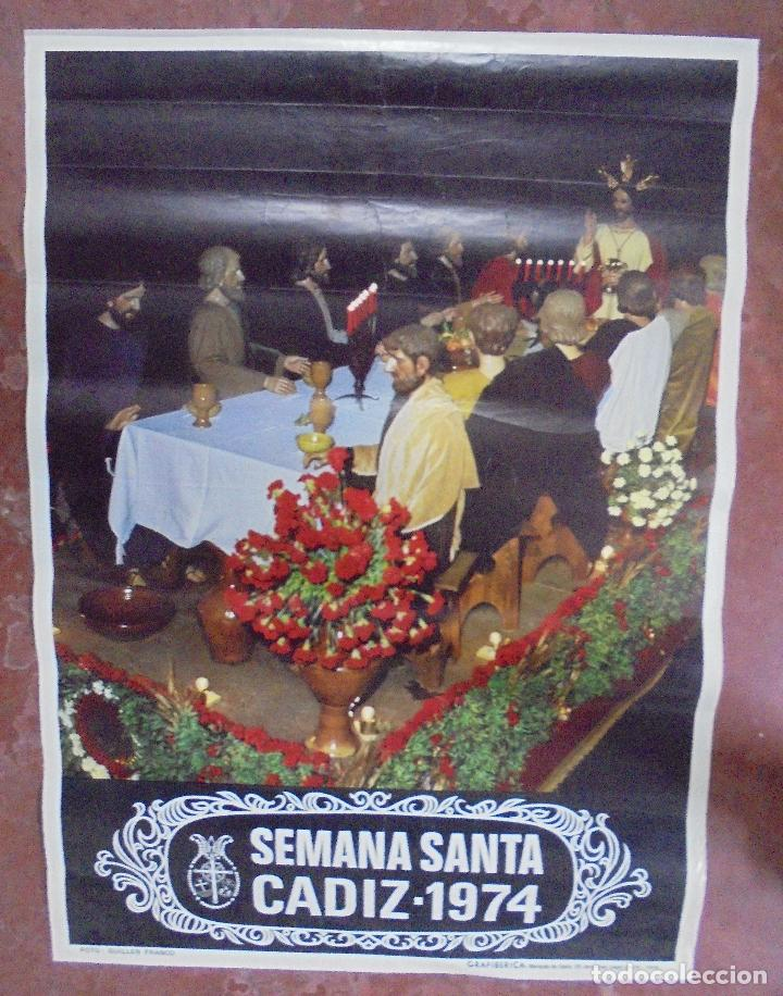 CARTEL SEMANA SANTA CADIZ. 1974. 68,5 X 49 CM. (Coleccionismo - Carteles Gran Formato - Carteles Semana Santa)