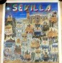 Carteles de Semana Santa: SEMANA SANTA SEVILLA, CARTEL DOMINGO DE RAMOS, 1988, RELACION DE COFRADIAS,RARO,49X68 CMS. Lote 85399280
