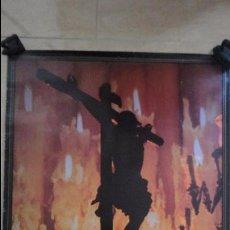 Carteles de Semana Santa: ANTIGUO CARTEL.SEMANA SANTA SEVILLA.1992.TAMAÑO GRANDE.EL MONTE.FOTO EMILIO SAENZ.. Lote 85864096