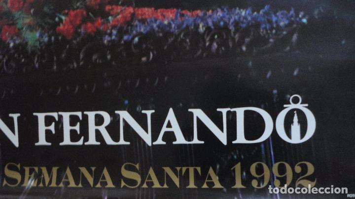 Carteles de Semana Santa: ANTIGUO CARTEL.SEMANA SANTA.SEVILLA.1992.CAJA SAN FERNANDO.FOTO ARENAS.TAMAÑO GRANDE - Foto 3 - 245179415