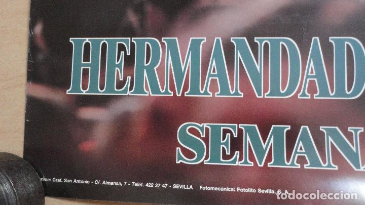 Carteles de Semana Santa: ANTIGUO CARTEL.HERMANDAD DE LA MACARENA.SEMANA SANTA SEVILLA.1993.FOTO ANGEL BAJUELO. - Foto 2 - 87256056
