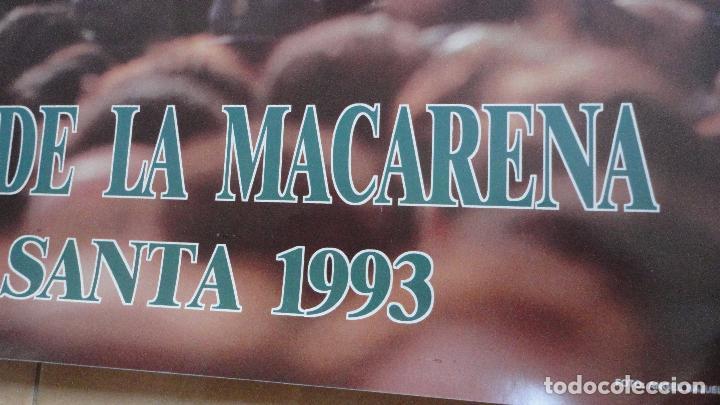 Carteles de Semana Santa: ANTIGUO CARTEL.HERMANDAD DE LA MACARENA.SEMANA SANTA SEVILLA.1993.FOTO ANGEL BAJUELO. - Foto 3 - 87256056