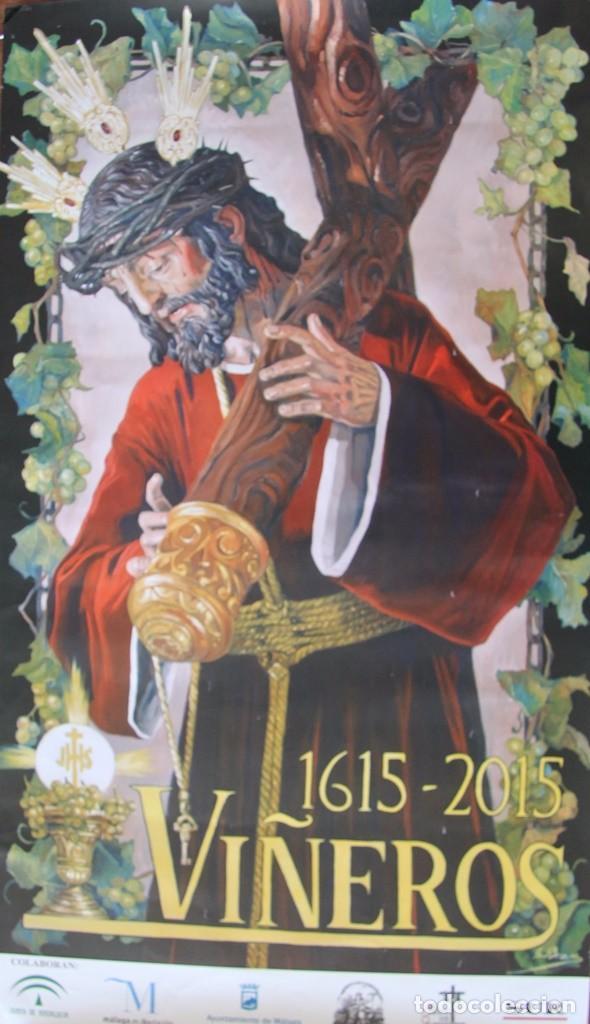 Carteles de Semana Santa: MALAGA COFRADIA DE VIÑEROS CARTEL CONMEMORATIVO DE SUS CUATROCIENTOS AÑOS 67 X 39 CM- SEMANA SANTA - Foto 2 - 87631888