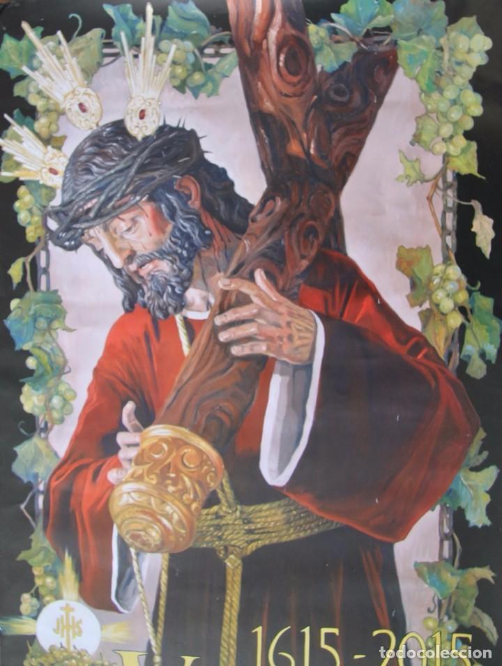 Carteles de Semana Santa: MALAGA COFRADIA DE VIÑEROS CARTEL CONMEMORATIVO DE SUS CUATROCIENTOS AÑOS 67 X 39 CM- SEMANA SANTA - Foto 4 - 87631888