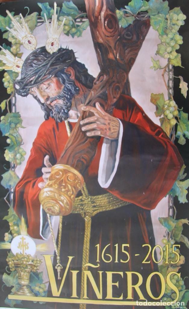 Carteles de Semana Santa: MALAGA COFRADIA DE VIÑEROS CARTEL CONMEMORATIVO DE SUS CUATROCIENTOS AÑOS 67 X 39 CM- SEMANA SANTA - Foto 5 - 87631888