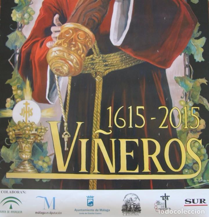 Carteles de Semana Santa: MALAGA COFRADIA DE VIÑEROS CARTEL CONMEMORATIVO DE SUS CUATROCIENTOS AÑOS 67 X 39 CM- SEMANA SANTA - Foto 6 - 87631888