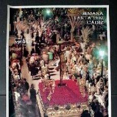 Carteles de Semana Santa: CARTEL SEMANA SANTA CADIZ 1992 - CARTELSSANTA-015. Lote 87904192