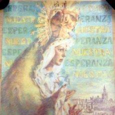 Carteles de Semana Santa: SEVILLA,1989, CARTEL 25 ANIVERSARIO CORONACION ESPERANZA MACARENA, 48X68 CMS. Lote 88765548