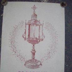 Carteles de Semana Santa: CARTEL SEMANA SANTA MANRESA 1963 PROCESION MANRESA 1963. Lote 91703530