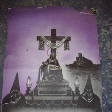 Carteles de Semana Santa: CARTEL SEMANA SANTA MANRESA 1960 PROCESION MANRESA 1960 - PASO DE LA VIRGEN DE LOS DOLORES. Lote 91703740