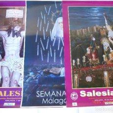 Carteles de Semana Santa: CUATRO CARTELES SEMANA SANTA DE MALAGA,. Lote 92393155