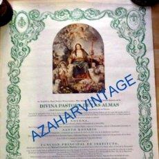 Carteles de Semana Santa: CANTILLANA, 1993, CARTEL DE CULTOS HERMANDAD DE LA DIVINA PASTORA, 50X70 CMS. Lote 94778599