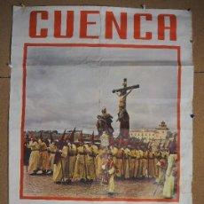 Carteles de Semana Santa: SEMANA SANTA CUENCA 1959 MEDIDAS 85 X 65 CM JUNTA LOCAL DE FESTEJOS.FOTO J.M. PEREZ SAN CLEMENTE. Lote 95072583