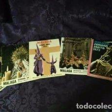 Carteles de Semana Santa: LOTE DE 5 ITINERARIOS SEMANA SANTA DE MÁLAGA. DÉCADA DE LOS 70. Lote 96110247