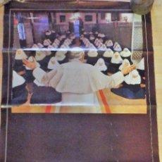 Carteles de Semana Santa: SEVILLA, 1982, CARTEL VISITA JUAN PABLO II, 63X93 CMS. Lote 99509079
