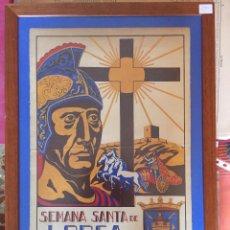 Carteles de Semana Santa: LORCA-MURCIA- SEMANA SANTA 1.947- CARTEL ENMARCADO. Lote 100036963