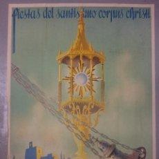 Carteles de Semana Santa: NUMULITE CARTEL POSTER FIESTAS DEL SANTISIMO CORPUS CHRISTI GRANADA AÑO DE LA VICTORIA ANEL DARRIZAL. Lote 100093759