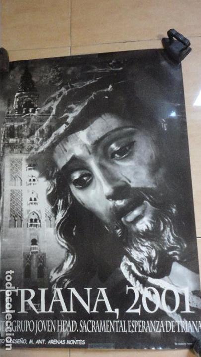 ANTIGUO CARTEL.TRIANA 2001.HERMANDAD SACRAMENTAL ESPERANZA DE TRIANA. (Coleccionismo - Carteles Gran Formato - Carteles Semana Santa)